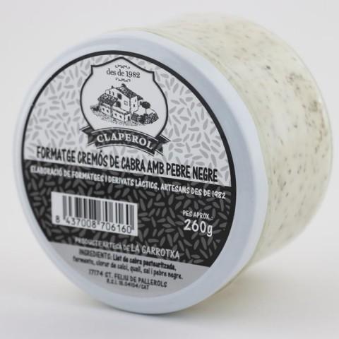 formatge cremos cabra pebre negre